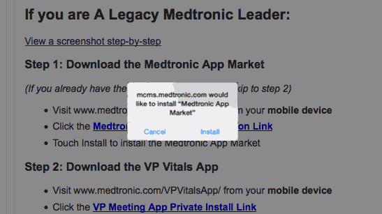 How to Download the VP Vitals App (Medtronic)
