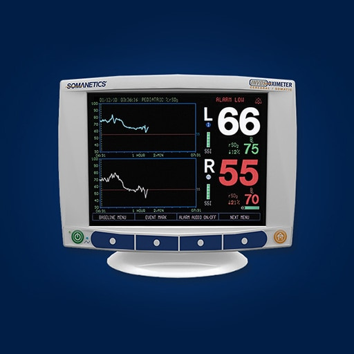 INVOS™ 5100 Cerebral/Somatic Oximeter providing regional oxygen saturation (rSO2)