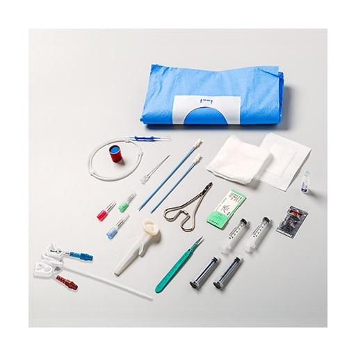 MAHURKAR™* Curved Extension Dual Lumen Catheter IC Safety Trays