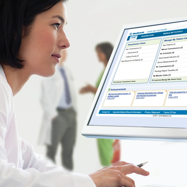 Medtronic CareLink homepage