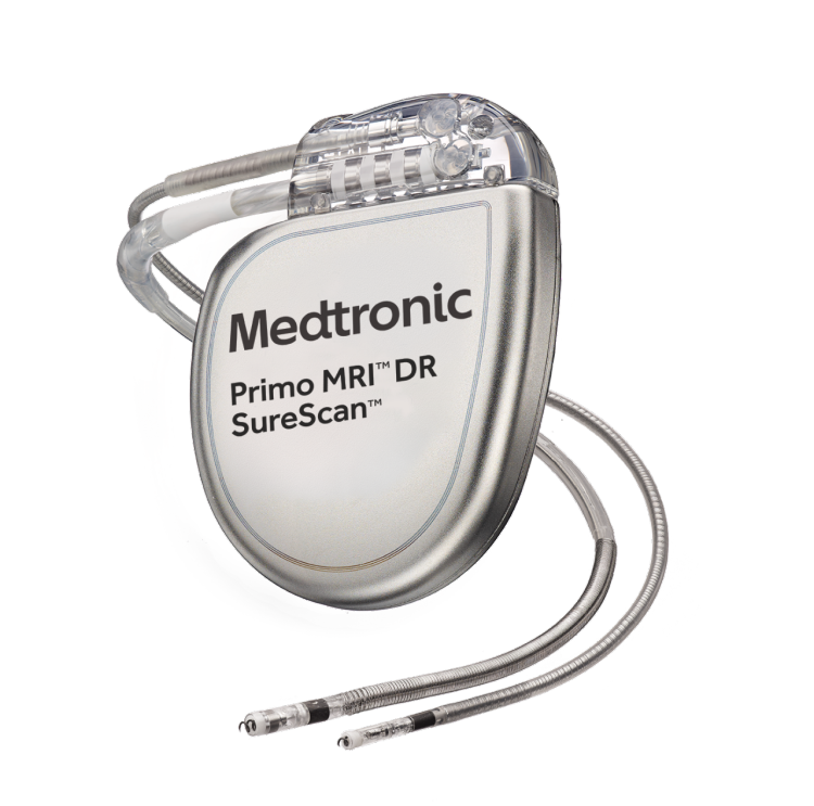 Primo MRI dual chamber DF4 ICD with leads