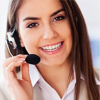 Contact Us Smiling Operator