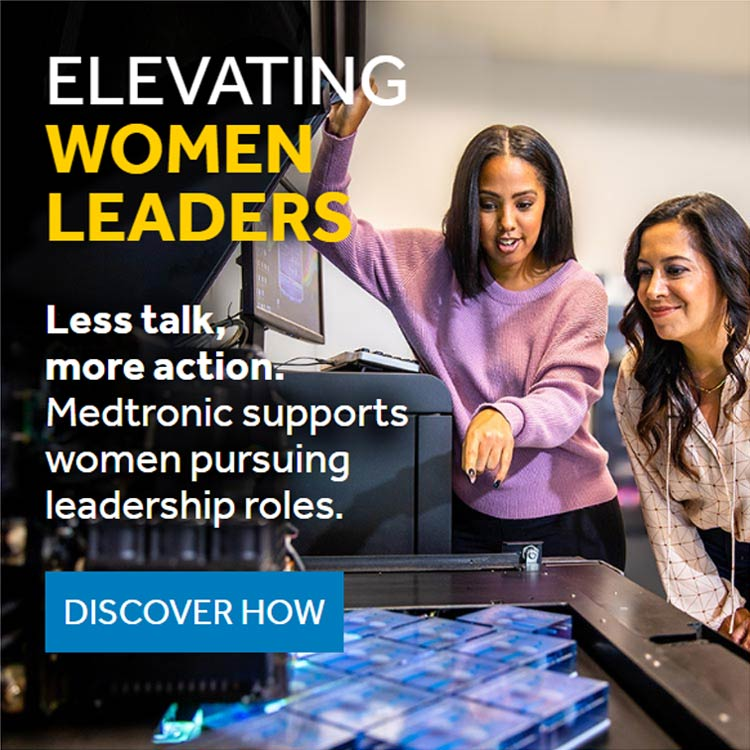Elevating Women Leaders - Less talk, more action. Medtronic supports women pursuing leadership roles.