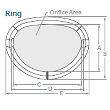 Simulus semi-rigid annuloplasty ring diagram