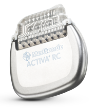 Activa RC Neurostimulator for deep brain stimulation