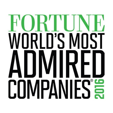 Fortune World's Most Admired Companies 2016 logo