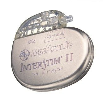 Medtronic InterStim II Device for sacral neuromodulation.