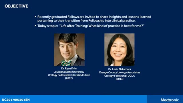Ryan Krlin, MD, and Leah Nakamura, MD, discuss insights and lessons learned during their transition from fellowship to clinical practice.