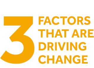 3 Factors that are driving change
