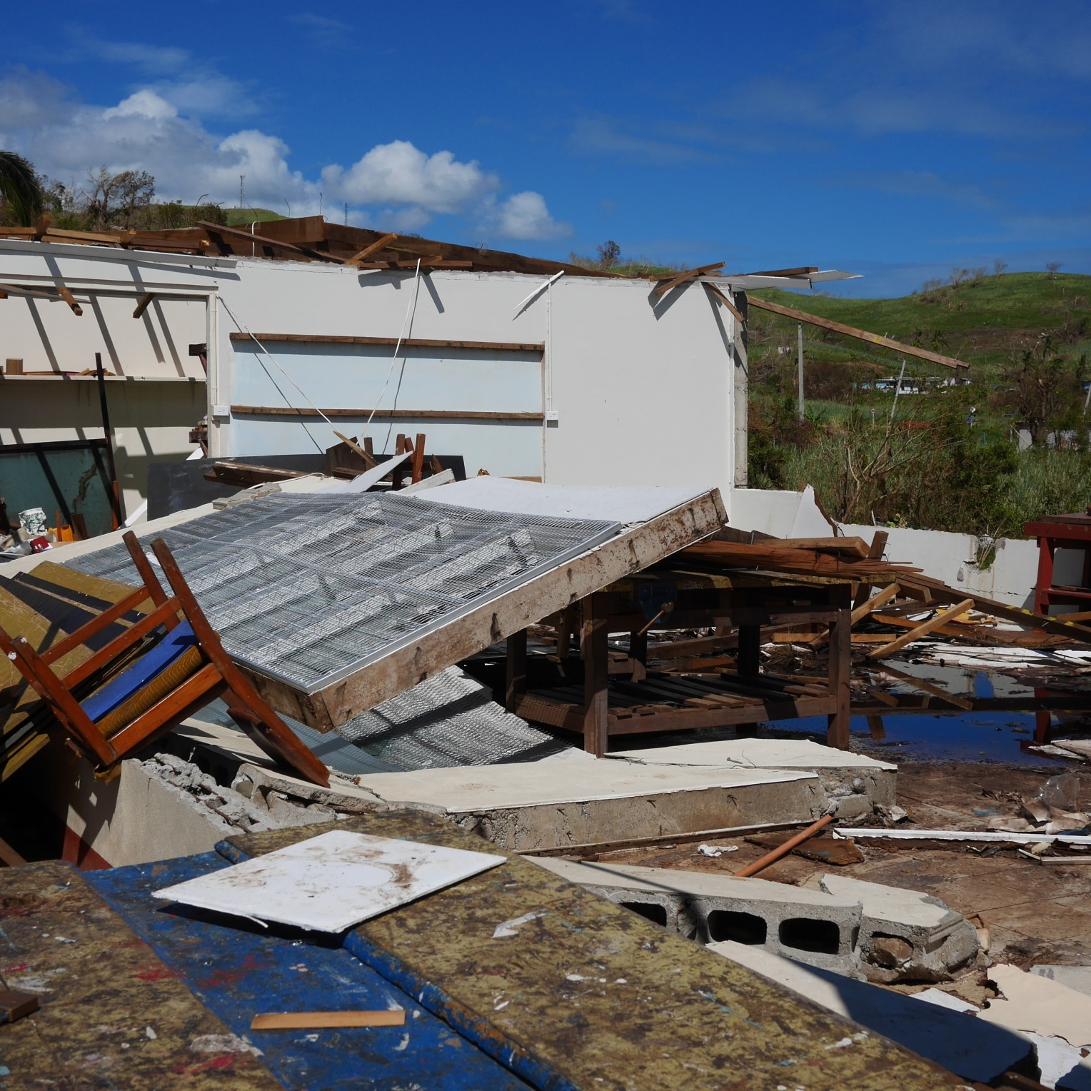 Damage from the cyclone in Fiji