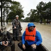 rescue efforts in Houston