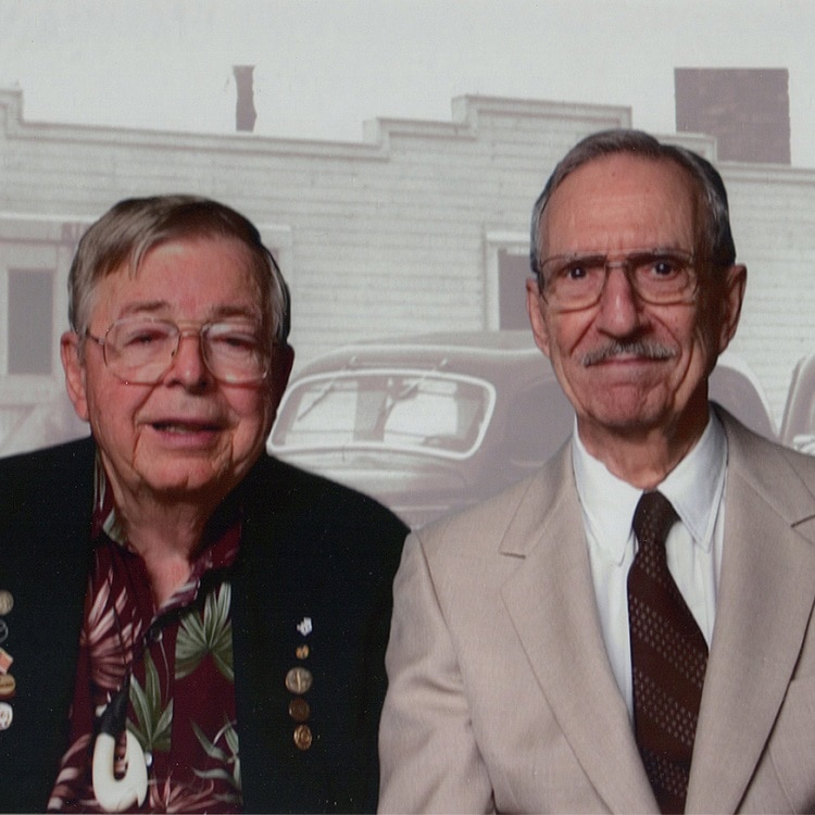 Earl Bakken and John Bravis