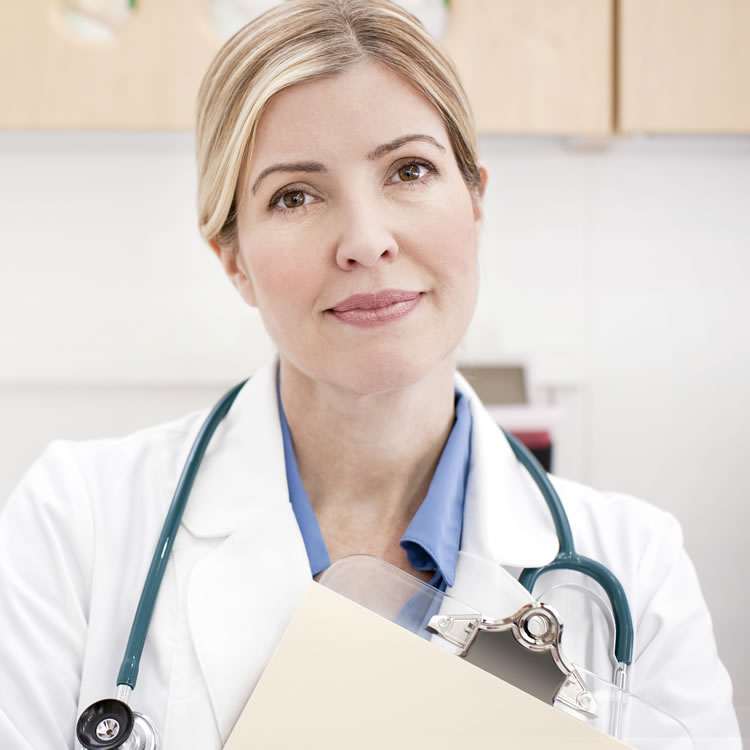 Female physician with a stethoscope and clipboard.jpg