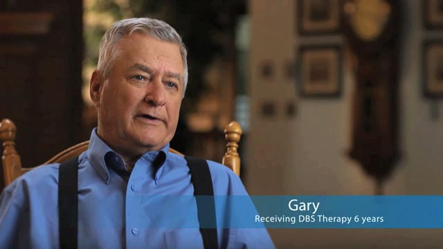 Watch Gary's story about life after DBS therapy for Parkinson's Disease.