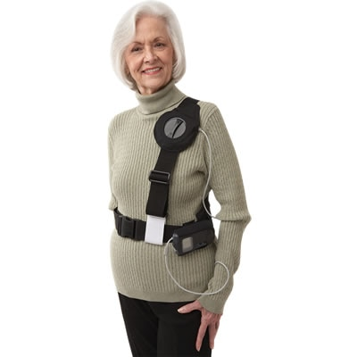 Older woman wearing recharger